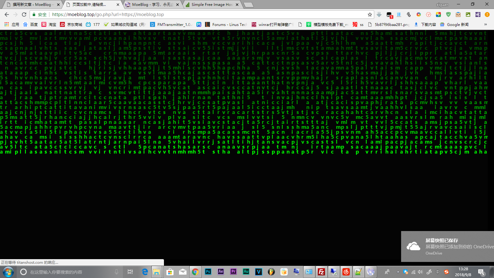 【PHP/前端】使用PHP+HTML+CSS实现黑客帝国数字雨301跳转